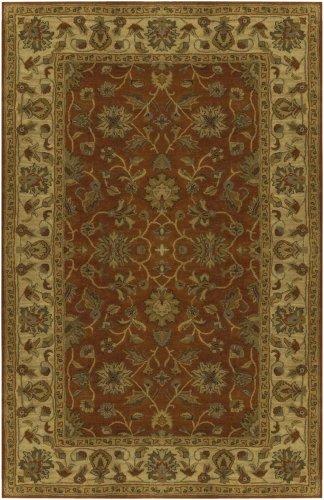 Surya Crowne CRN-6002 Classic Hand Tufted 100% Wool Cinnamon Spice 2'6'' x 8' Traditional Runner by Surya