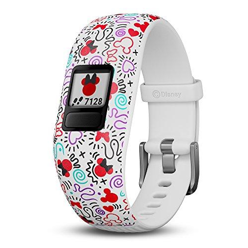 Garmin vivofit jr. 2, Kids Fitness/Activity Tracker, 1-Year Battery Life, Adjustable Band, Disney Minnie Mouse
