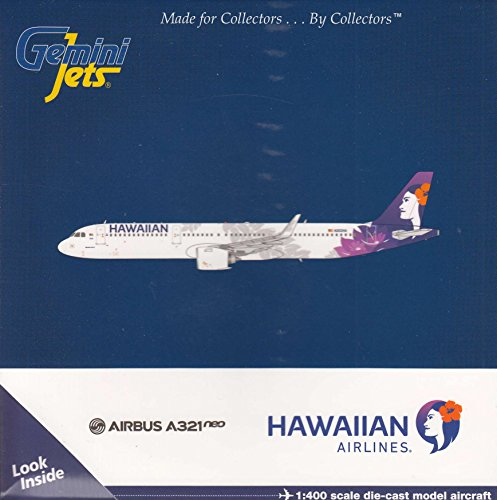 Gemini Jets Hawaiian Airlines A321neo N202HA 1:400 Scale Die Cast Airplane Model