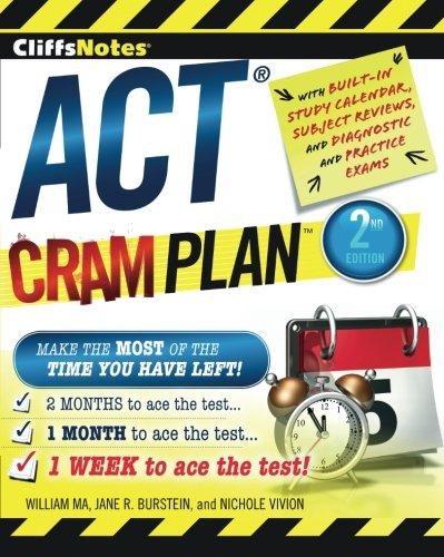 CliffsNotes ACT Cram Plan, 2nd Edition (Cliffsnotes Cram Plan)