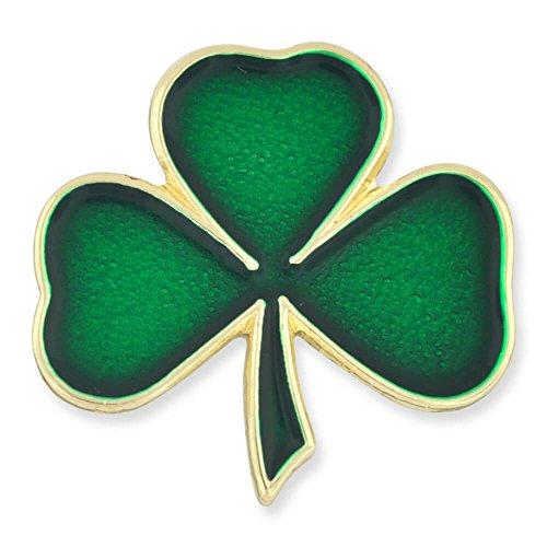 PinMart's Green Shamrock 3 Leaf Clover St. Patrick's Day Enamel Lapel Pin by PinMart