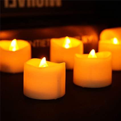wholesale tealights flameless candles bulk wave open led tea lights candle for christmas seasonal festival