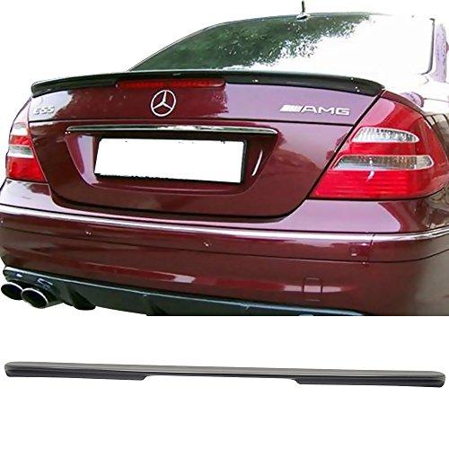 Trunk Spoiler Fits 2003-2009 Mercedes Benz W22011 E-Class | Euro Style ABS Rear Deck Lip Wing Bodykits by IKON MOTORSPORTS | 2004 2005 2006 2007 ()
