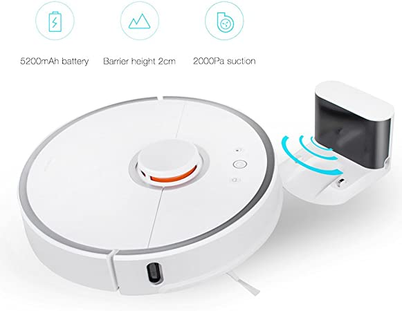 Xiaomi Robot aspirador automático intelectual Robot de barrido robot automático nueva generación 2 en 1 y barrido Juerga LDS Bumper Slam, mando a distancia por WiFi APP: Amazon.es: Hogar