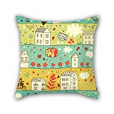 PILLO throw pillow case of flower 18 x 18 inches / 45 by 45 cm,best fit for her,teens boys,festival,lounge,lover,kids room two sides