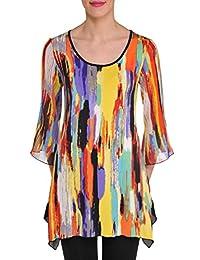 Nygard Women's Plus Size Slims 3/4 Bell Sleeve Tunic MultiSwirl