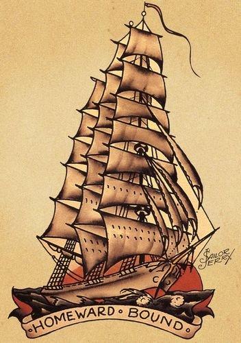 amazon com sailor jerry tattoo art 11x14 photo print posters prints