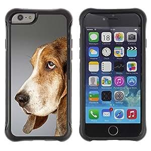 LASTONE PHONE CASE / Suave Silicona Caso Carcasa de Caucho Funda para Apple Iphone 6 / Pointer Dog English Foxhound