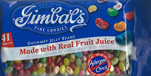 Gimbals Allergen-Free Fine Candies Gourmet Jelly Beans, 41 F