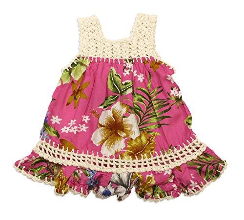 Maui Clothing Infant/Toddler Crochet Flower Aloha Sundress (2T, (Plumeria Girl)