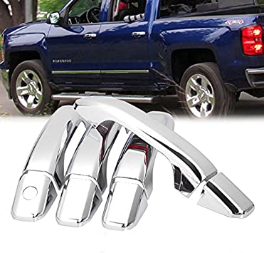 Amazon Com Brand New Chrome Side Door Handle Cover Fit For 14 16 Chevrolet Silverado Gmc Sierra 1500 Home Improvement
