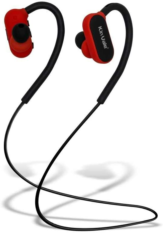 Amazon Com Kin Vale Bluetooth Headset Wireless Hands Free In Ear Sport Headphone Waterproof Noise Reduction Hd Sound Stereo Music Support Voice Prompt Call Time Up To 8 Hours Range 10 Meters Red
