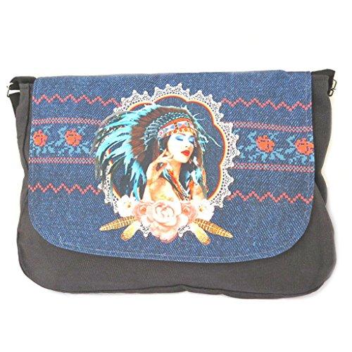 Hobo 'Navajos'dark blue - 36x28x7 cm (14.17''x11.02''x2.7...