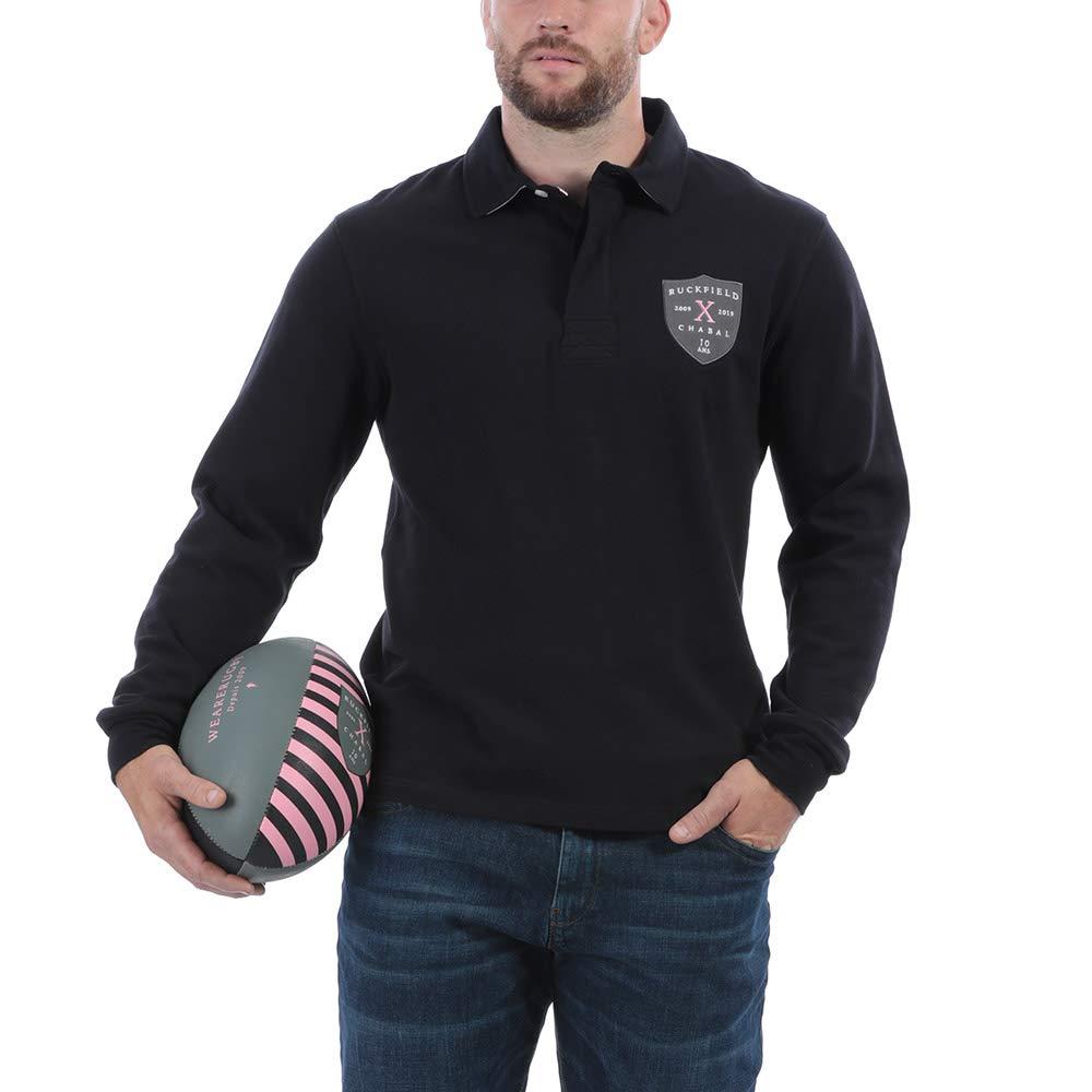 Noir 4XL Ruckfield - Polo Rugby Anniversaire - Noir