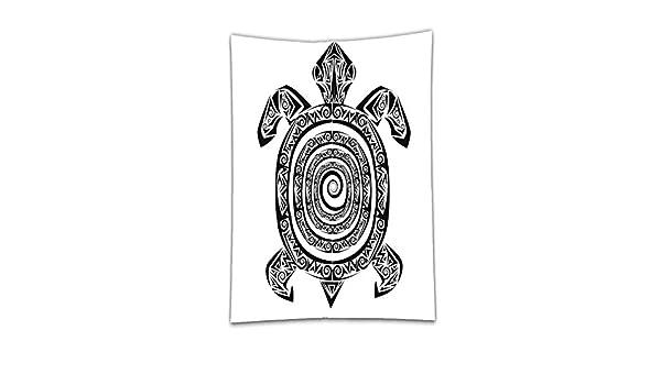 interestlee satinado (mantel? Tortuga Maori tatuaje estilo figura ...