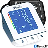Blood Pressure Monitor - Premium Technology: Double Pulse Detection - Lightning fast (30-40 sec) and Highly Accurate - iProvèn BPM-2244BT - Free Mobile App and Convenient Cuff (Gray-White)