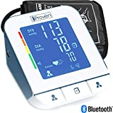 Image of Blood Pressure Monitor - Premium Technology: Double Pulse Detection - Lightning fast (30-40 sec) and Highly Accurate - iProvèn BPM-2244BT - Free Mobile App and Convenient Cuff