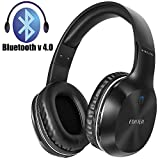 Bluetooth Headset for PC, Phones, Noise Isolation Wireless Headset with Mic, Over-Ear Wired Headphones with 3.5 mm Audio Cable (Black)