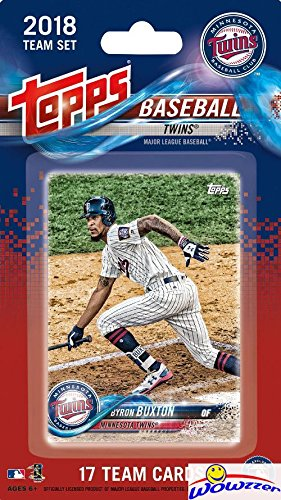 Minnesota Twins 2018 Topps Baseball EXCLUSIVE Special Limited Edition 17 Card Complete Team Set with Byron Buxton, Joe Mauer,Brian Dozier & Many More Stars & Rookies! Shipped in Bubble Mailer!WOWZZER! ()