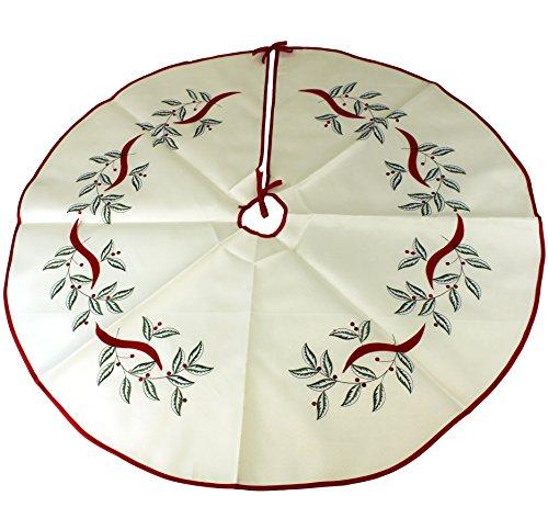 Linen Christmas Tree Skirt: Ivory Christmas Tree Skirt Ideas