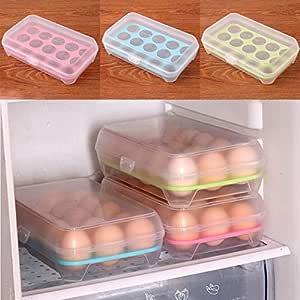 Partm Partm - Caja de almacenamiento para 15 huevos de cocina ...