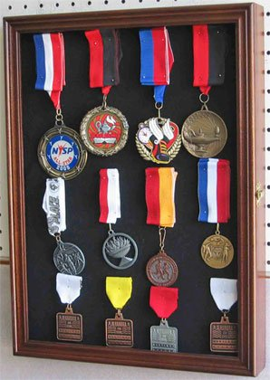Collector Medal Lapel Pin Display Case Holder Cabinet