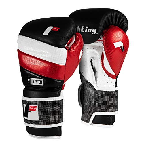- Fighting Sports S2 Gel Fear Training Gloves, Black/White/Red, 16 oz