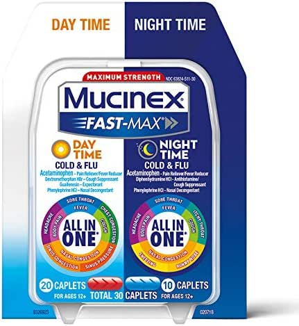 Cold & Flu: Mucinex Fast-Max Cold & Flu Day + Night Caplets