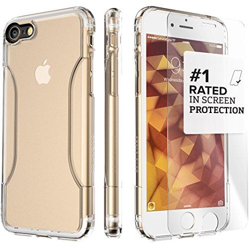 [해외]아이폰 8 케이스와 7 케이스 SaharaCase 클래식 보호 키트 번들 [제로 데미지 강화 유리 화면 보호기] 견고한 보호 미끄럼 방지 그립 [내 충격 범퍼] 슬림 핏-클리어 / iPhone 8 Case and 7 Case SaharaCase Classic Protective Kit Bundle with [Ze...