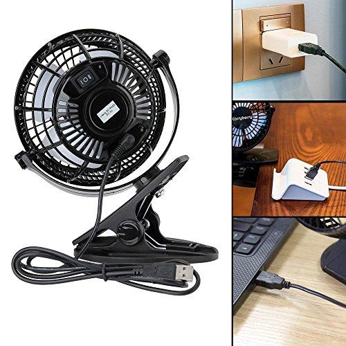 USB Desk Personal Fan Strong Wind 4 Inch 2 Speed Portable Cooling Fan USB Powered Strong Wind 2 in 1 Applications table fans,clip on fan,2 in 1 Applications