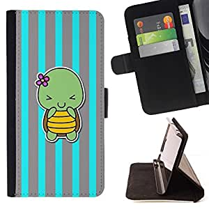 Momo Phone Case / Flip Funda de Cuero Case Cover - Mignon gris Lines - Samsung ALPHA G850
