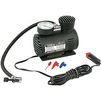FUSKANG inflador de neumáticos portátil, 12V Bomba de neumáticos de compresor de aire, inflación de neumáticos, mini-bomba coche inflable bomba eléctrica: ...