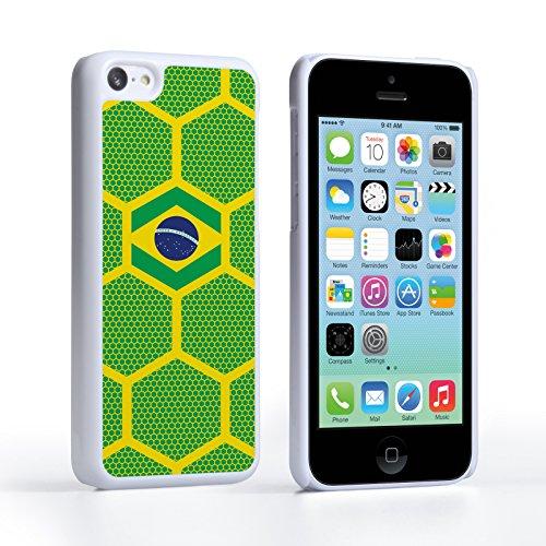 Caseflex iPhone 5C Hülle Brasilien Fußball Muster Weltmeisterschaft Hart Schutzhülle