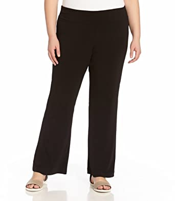 ca03aaf063b53 Danskin Now Womens Plus-Size Yoga Pant Petite 4X Black at Amazon ...