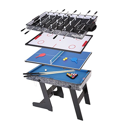 Lixada 48'' Foosball Table Competition Sized Playoff Game Football Soccer Table Soccer Game for Kids Children by Lixada