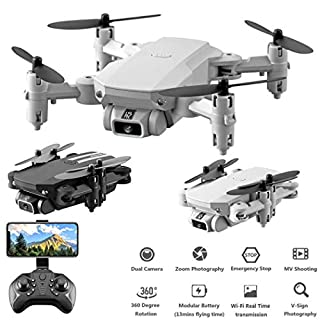 Zippem Professional High Definition Remote Control Aircraft Toys Four-Axis Drone Quadcopters (White Type4)