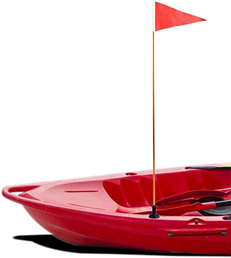 Professional Kayak Safety Flag with Adjustable Pole and Light