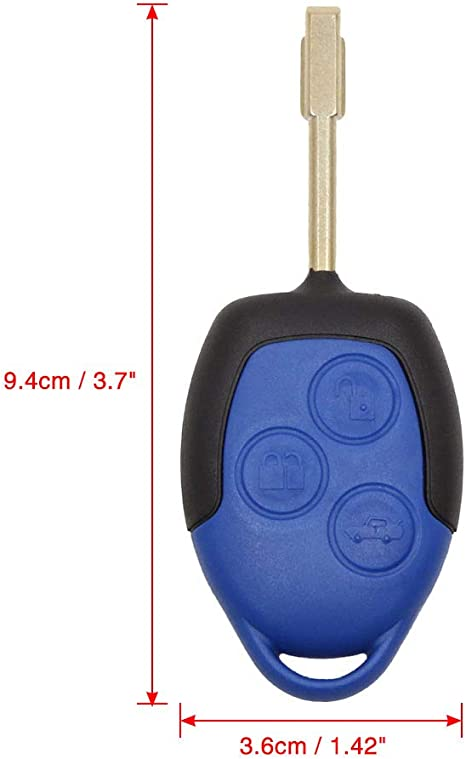 Sourcing Map Schlüssel Gehäuse 3 Tasten Fernbedienung Deckel Schal Ersatz Für Transit Connect Auto