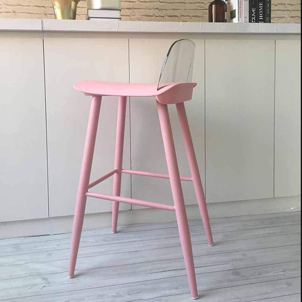 Original taburete estilo minimalista con respaldo transparente.