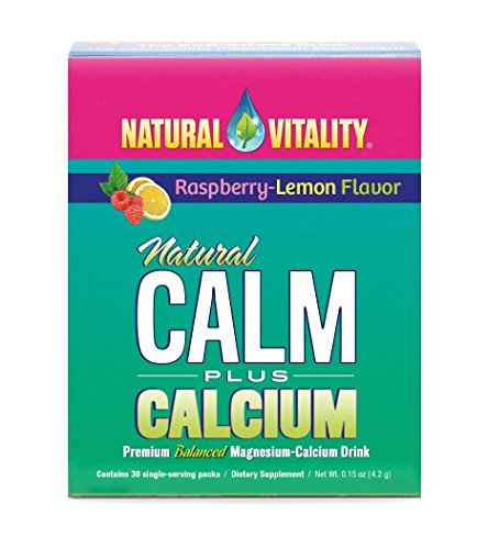 (Natural Vitality Natural Calm Plus Calcium Magnesium Anti Stress, Organic, Raspbery Lemon 30)