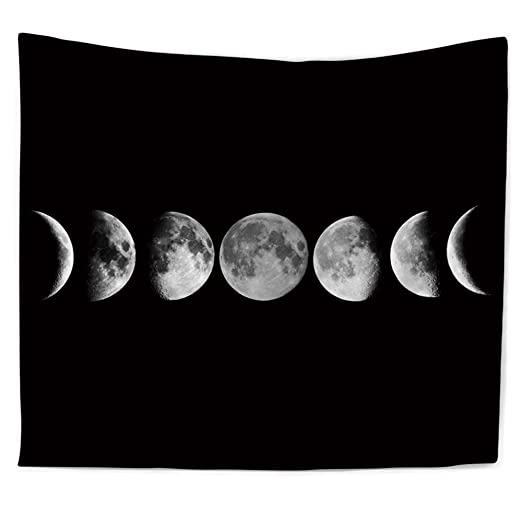 PYHQ Luna Eclipse Tapiz Pared,Hippie Bohemia Animales Art ...