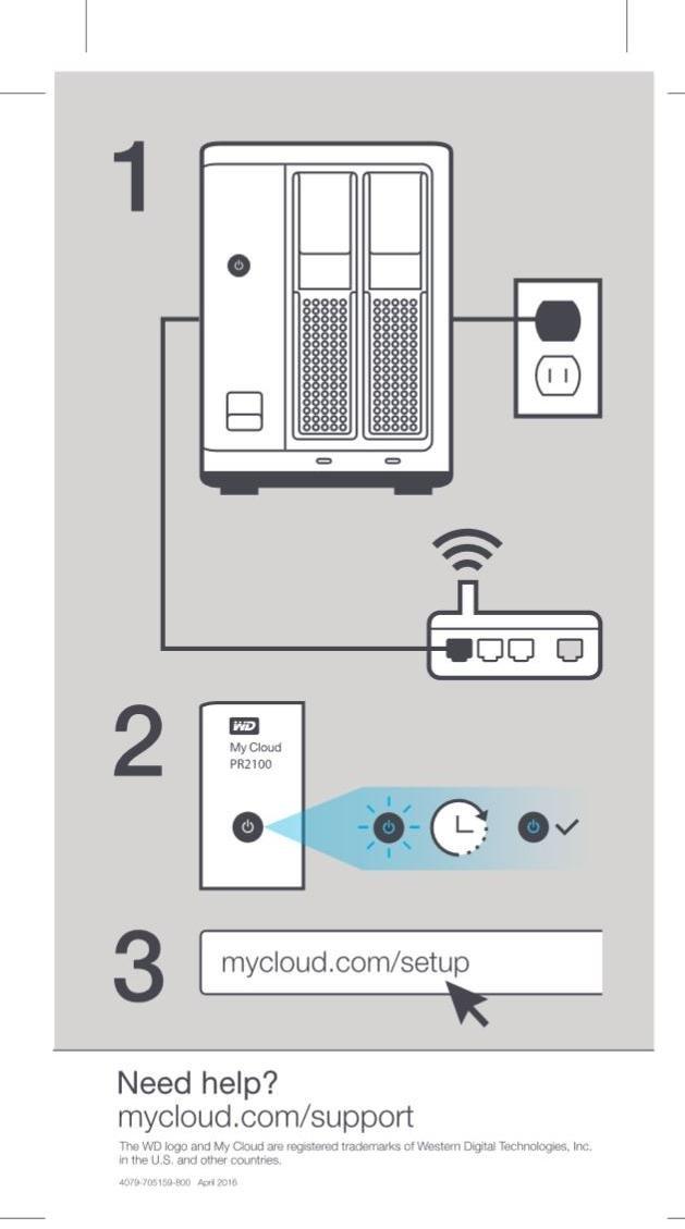 WD Diskless My Cloud Pro Series PR2100 Network Attached Storage - NAS -  WDBBCL0000NBK-NESN