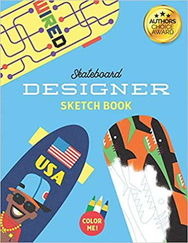 Amazoncom Skateboard Designer Sketch Book Colouring In And