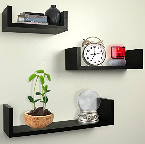 Greenco-Set-of-3-Floating-U-Shelves-Espresso-Finish