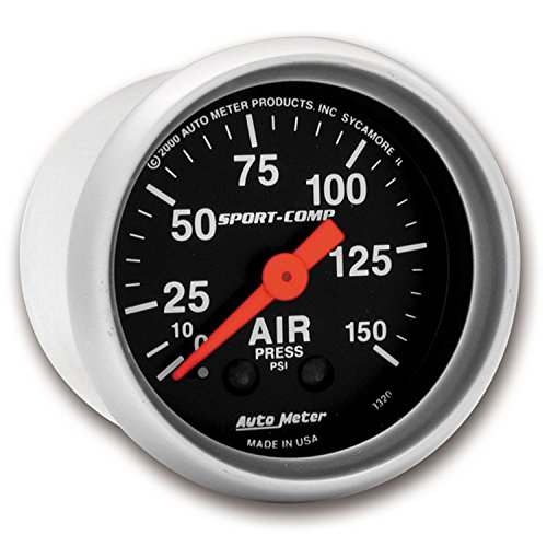 Auto Meter 3320 Sport-Comp Mechanical Air Pressure Gauge by Auto Meter