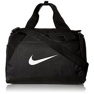 NIKE Brasilia Training Duffel Bag, Black/Black/White, Size Large