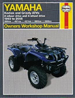 h2567 yamaha yfm 400 450 600 660 kodiak grizzly 1993 2005 atv repair rh amazon com 2005 yamaha rhino 660 owners manual 2005 yamaha grizzly 660 repair manual free