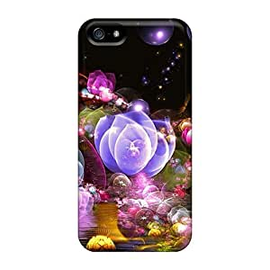 EmptySpiral Snap On Hard Case Cover 3d Glowing Floral2 Protector For Iphone 5/5s