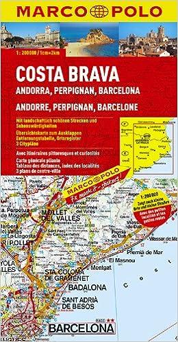 Karte Costa Brava Spanien.Marco Polo Karte Spanien Costa Brava Andorra Perpignan