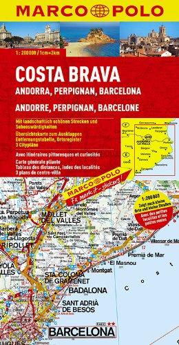 MARCO POLO Karte Costa Brava, Andorra, Perpignan, Barcelona 1:200.000 (MARCO POLO Karten 1:200.000)
